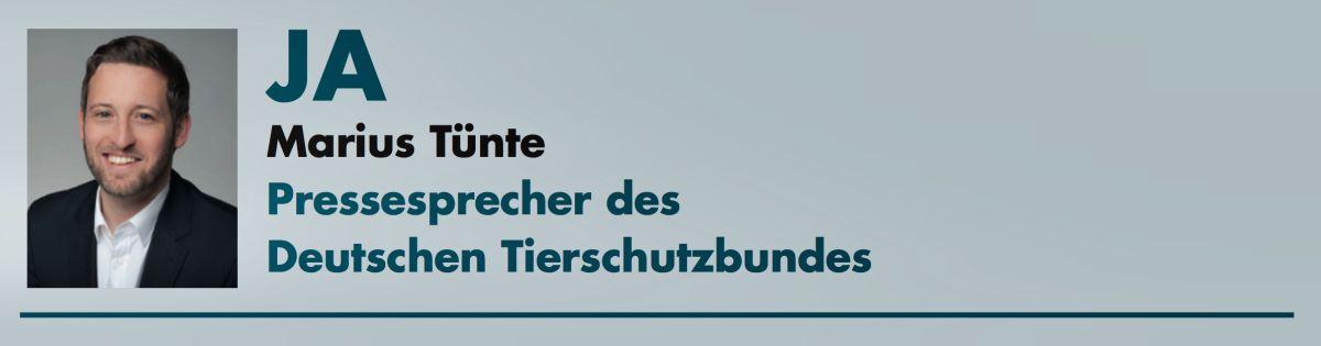 Marius Tünte (Deutscher Tierschutzbund)