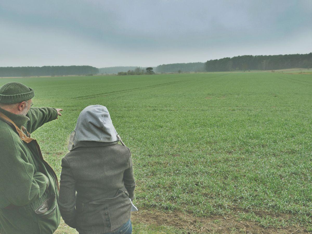 Ralf K. erläutert den Ablauf des vermeintlichen Wolfsangriffs ©Jaegermagazin
