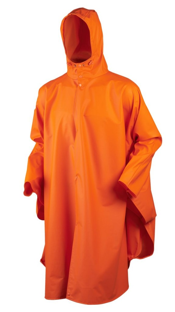 Rainy poncho_flourescent orange