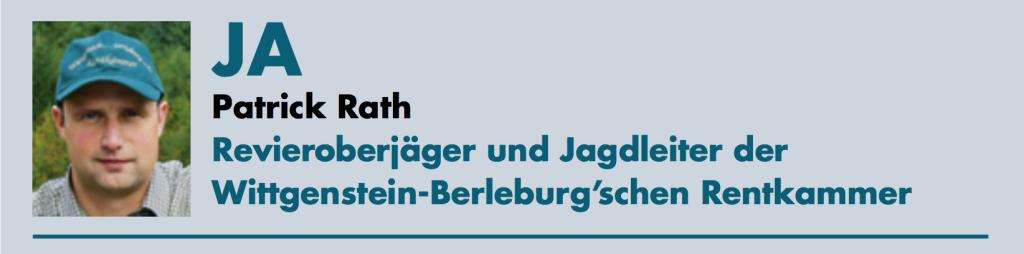 Patrick Rath Revieroberjäger und Jagdleiter der Wittgenstein-Berleburg'schen Rentkammer