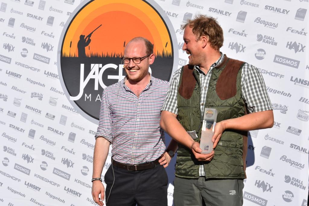Erster Platz mit sensationellen 867 von 100 Tauben: Ronny A. Niklas Scharffetter JÄGER Masters