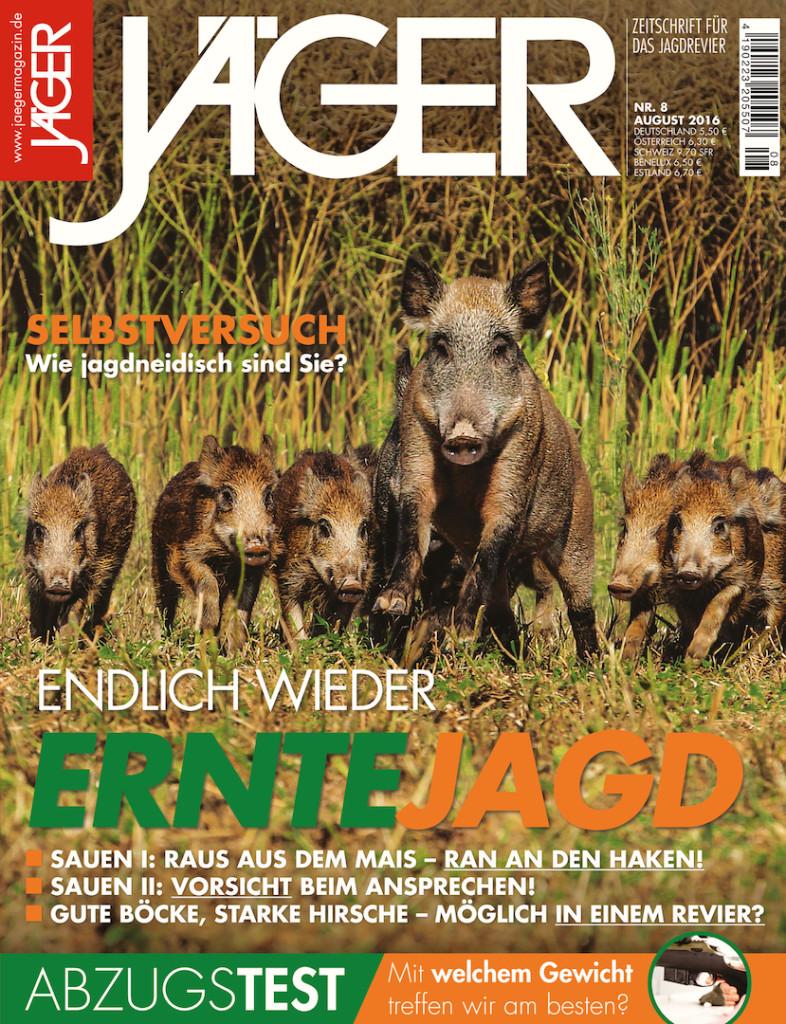 August 2016 Jagd Magazin Jagen Jäger08_2016_jaegermagazin