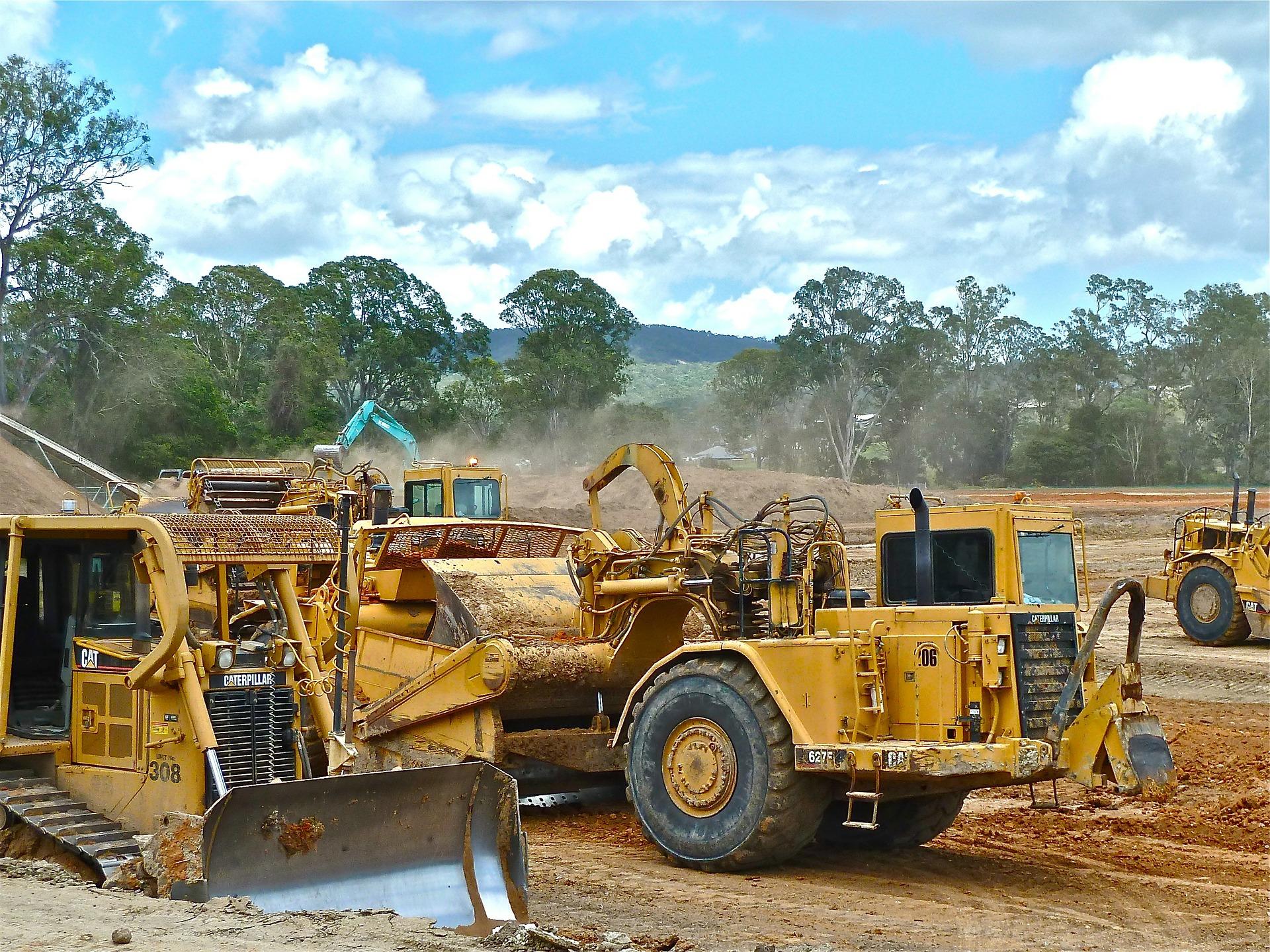 Rodung Regenwald bulldozer Klimaschutz