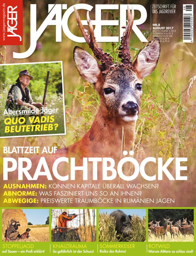 Blattzeit auf Prachtböcke cover jaegermagazin august 2017