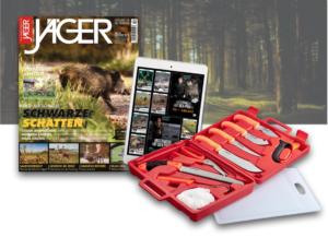 Geschenk für Jäger. Zerwirkset mit Jägerprime. Jahres Abo JÄGER Magazin
