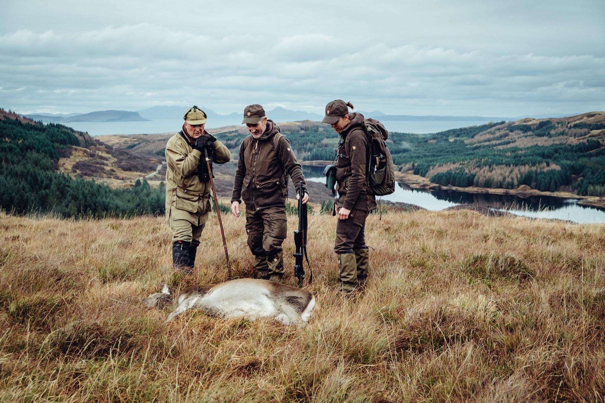 Fjällräven Pirsch Kombo Ergebnisse der JÄGER Testreise 2017 jagen ins Schottland hunting highlands westhighlandhunting JÄGERMAGAZIN Swarovski