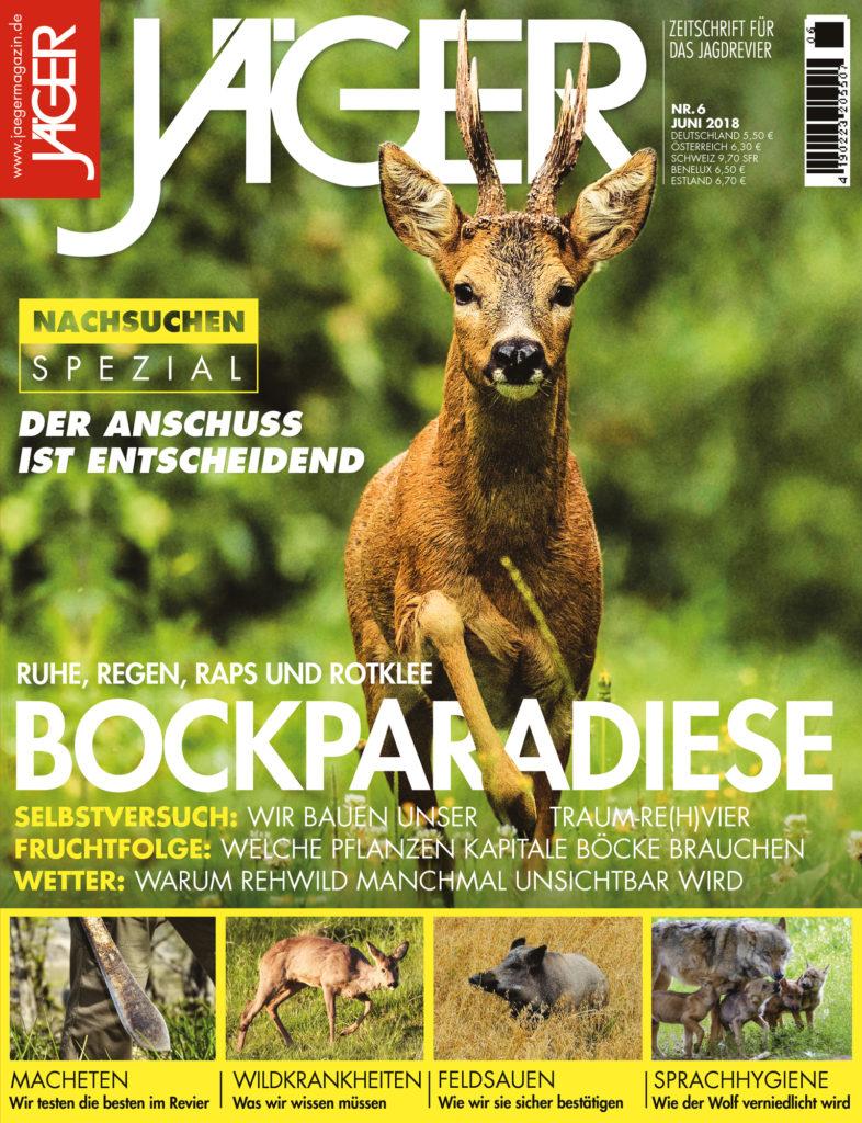Bockparadiese – JÄGER Magazin Juni 2018 –  Bockjagd